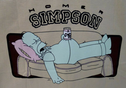 Jacke The Simpsons Homer Couch beige M XL Cartoon Kapuzenjacke Hoody