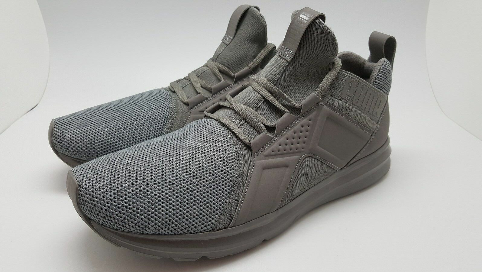 PUMA Men's Enzo Mesh Sneaker Shoe Steel Gray 190015 06 Comfortable