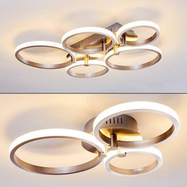 Design LED Flur Decken Leuchten Wohn Schlaf Raum Dielen Küchen Lampen goldfarben