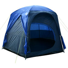 Charles Bentley 6-8 Person Waterproof Tent Camping Outdoor Easy Assembly - Blue