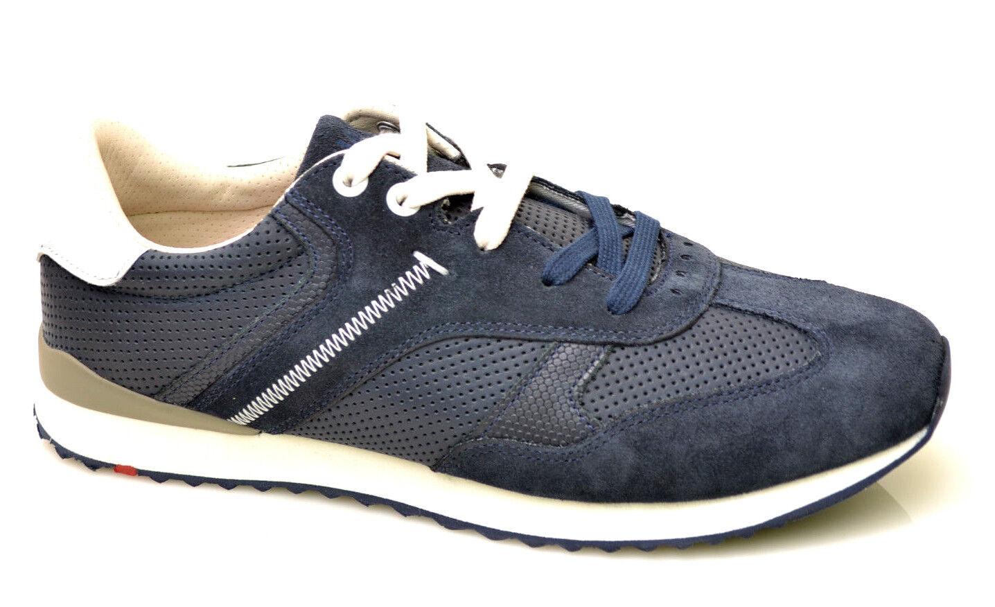 Lloyd sport schuhe ocean Herrenschuhe Sneaker Schuhe blau Leder NEU ROTUZIERT