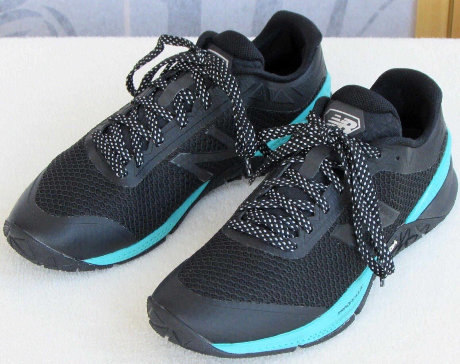 10   New Balance Mimimus Women Black Aqua Vibram Sole Running Sneaker shoes