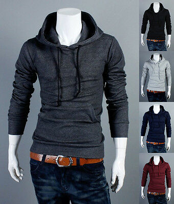 New Fashion Men's Slim Fit Sexy Top Designed Hoodies Jackets Coats Long Sleeve