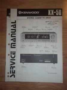 kenwood service manual kx 50 cassette tape deck player original rh ebay com Kenwood Manual DPX-400 Kenwood Instruction Manual