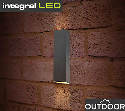 Integral LED Pablo Outdoor Double Up Down Outdoor Wall Light Garden Patio IP54