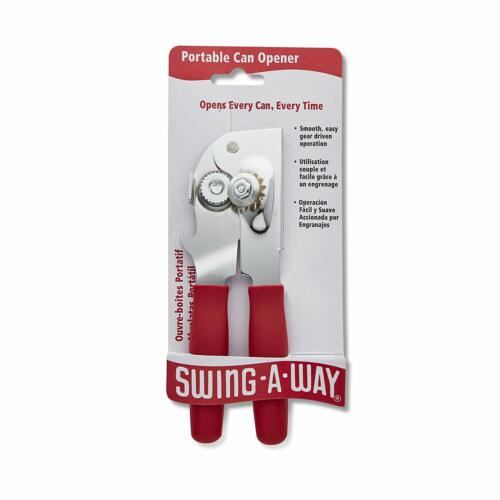 Swing-A-Way Portable Manual Can Opener w//Built In Bottle Opener Blue Green Gray