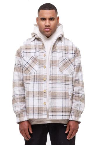 Pegador Herren Flato Heavy Wool Flannelhemd creme