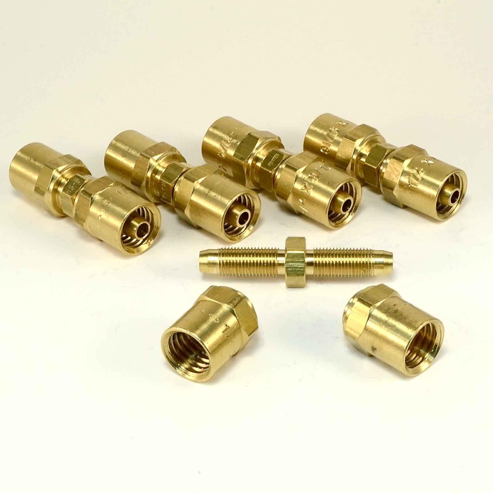 Reusable Hose Barb  - 1 4  ID X 9 16  OD hose - USA MADE Air Hose Fittings Brass