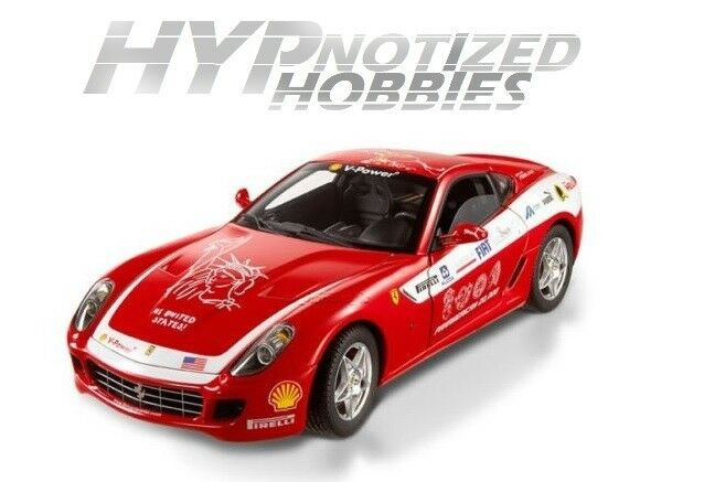 Hot Wheels 1 18 Elite Ferrari 599 Gtb Fiorano Moulé rosso L7117