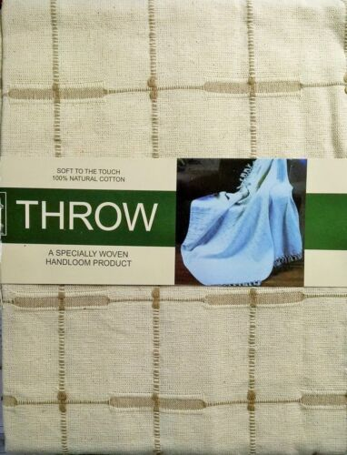 100/% COTTON NATURAL CREAM SOFA SETTEE ARM CHAIR COVER FURNITURE THROW SOFT TOUCH