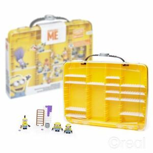 New Despicable Me Minions Display Case & 3 Figures Mega Bloks Official