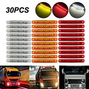 1x Amber 9 SMD LED Truck Car Side Marker Indicator BUS Lights Signal Lamp 24V