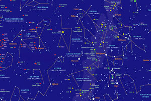 Sky Star Map.A3 A4 Size Star Chart Educational Map Of The Sky Cosmos