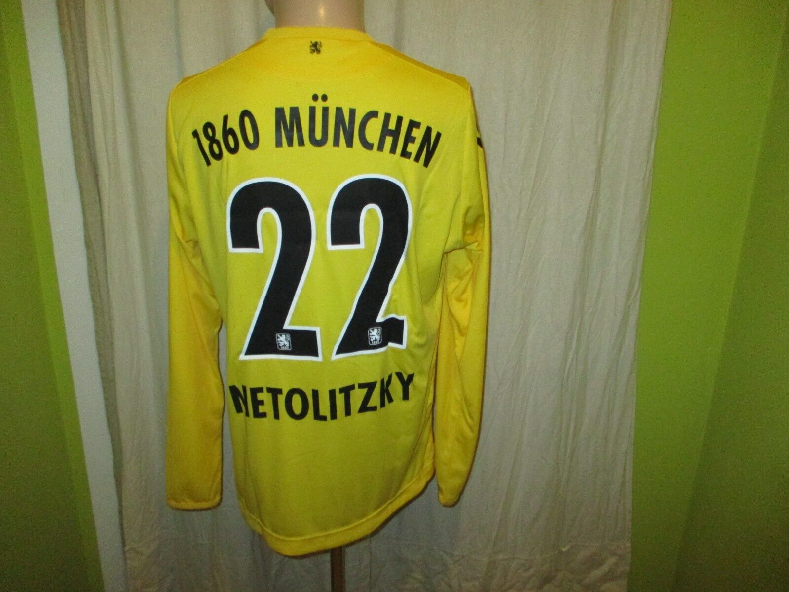 TSV 1860 Munich MACRON Matchworn Goalkeeper Jersey 2015 16 + no 22 netolitzky Größe L