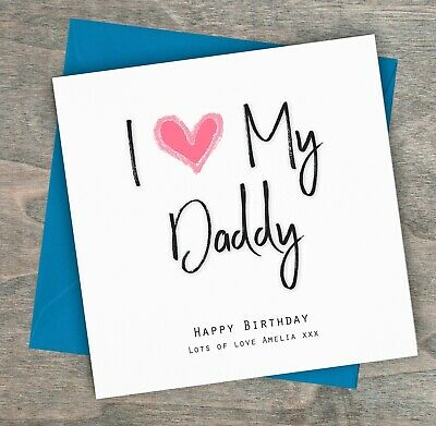 Remarkable Personalised Handmade Birthday Card I Love My Daddy Dad Grandad Personalised Birthday Cards Rectzonderlifede
