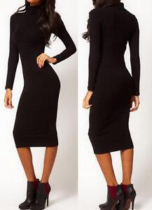 Schwarze rollkragen kleider
