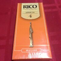 One Box Of 25 Rico Soprano Sax Reeds Size 4 (4)