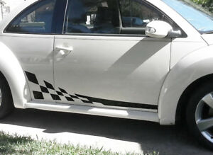 Checkered Flag Vw >> Details About 1998 2017 Vw Beetle Checkered Flag Side Panel Rally Stripes Decal Porsche Style