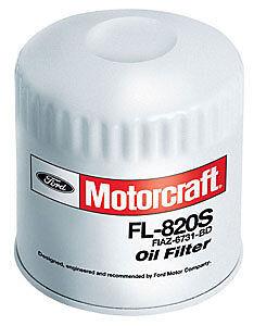 FORD MOTORCRAFT OIL FILTERS CASE 12  FL820S