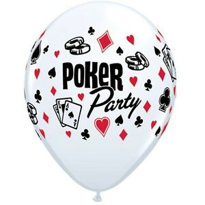 POKER-PARTY-SUPPLIES-10-x-11-034-QUALATEX-RED-amp-WHITE-CARD-SUIT-LATEX-BALLOONS