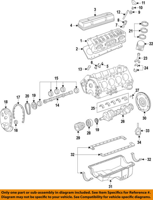 GM OEM-Engine Valve Cover 12555271