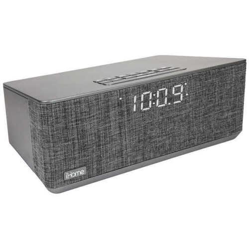 IBT233V2G iHome Bluetooth Dual Alarm Stereo Clock Radio w// Dual USB Charging