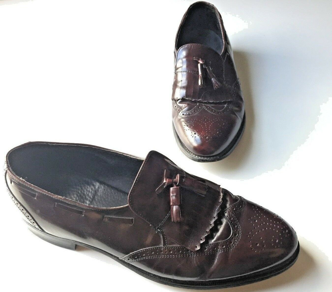 Men's Hanover Leather Brown Oxford Tassel Loafers. Size: 13 D/B. Tassel Oxford Details. 8cf14e