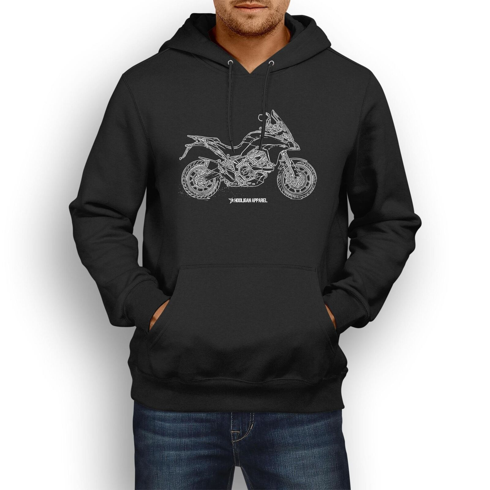 Ducati Multistrada 950 2017 InspiROT Motorcycle Art Men's Hoodie