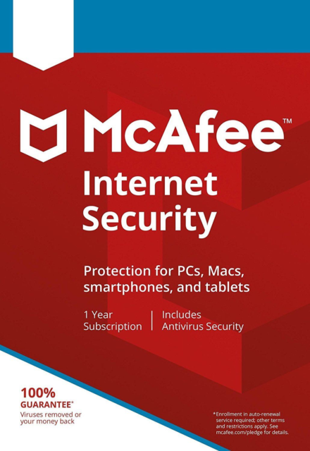 McAfee Internet Security 2019 , 1 USER - Multi-, 1 Year (DOWNLOAD VERSION)