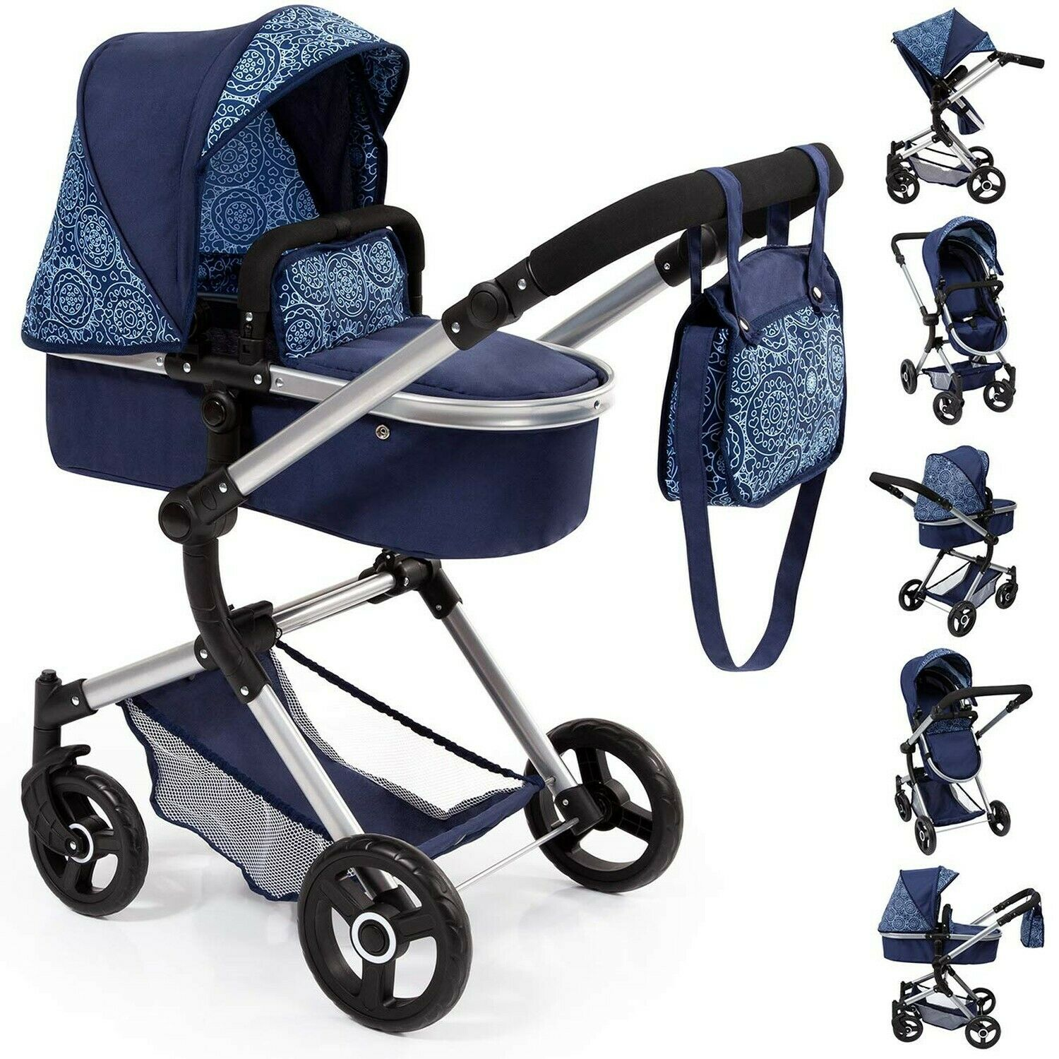 Bayer Design 18403AA Stroller Doll Combi Pram Neo Vario with Changing Bag an...