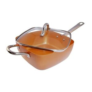 Copper-Deep-Frying-Pan-and-Lid-Copper-Induction-Square-Deep-9-5-034-Fry-Pan