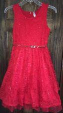 Big Girl Dresses in Red Size 16 Formal Dresses Easter Flower Girl Birthday Party