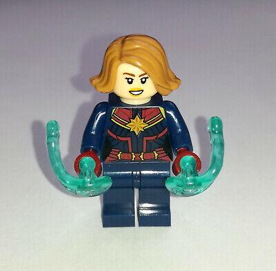100% Vero Capitana Marvel Minifigura Captain Lego Avengers Endgame