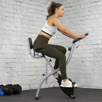 Deals on Foldable Stationary Upright Exercise Bike Cardio Workout Cycling