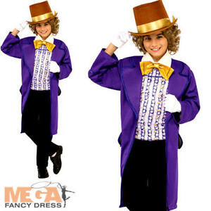 1e1ad3cab1a Willy Wonka Boys Fancy Dress Chocolate Factory Roald Dahl Book Day ...