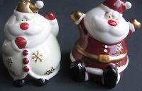 Life Home-jolly Happy Mr./mrs. Santa Claus-salt & Pepper Shakers-3 Ceramic