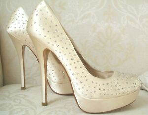 sposa da D Brightly £ Dune Diamante 41 Satin 135 Size Ivory Rrp Scarpe 8 Cream BUWa6qWwF