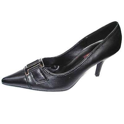 Nuevo Para Mujer Damas Slim TALÓN MEDIADOS Fancy Mary Janes Tribunal Zapatos Plata tamaño del Reino Unido D-37
