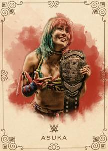 DIGITAL CARD Topps SLAM WWE Asuka BRAND VARIANT Vintage 2018 250cc
