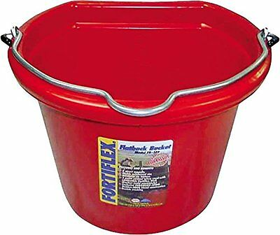 Fortiflex Flat Back Feed Bucket For Dogs/cats And Small Animals 8-quart Red Delaying Senility