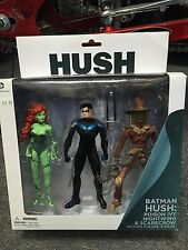 batman HUSH: POISON IVY  NIGHTWING  SCARECROW action figure 3 PACK