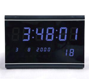 MULTI-LED-Numerique-Affichage-Horloge-murale-avec-de-date-alarme-Grande-clair