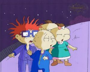 RUGRATS-Production-Cel-Cell-Original-Animation-Art-Nickelodeon-1990s-PJs-Tommy