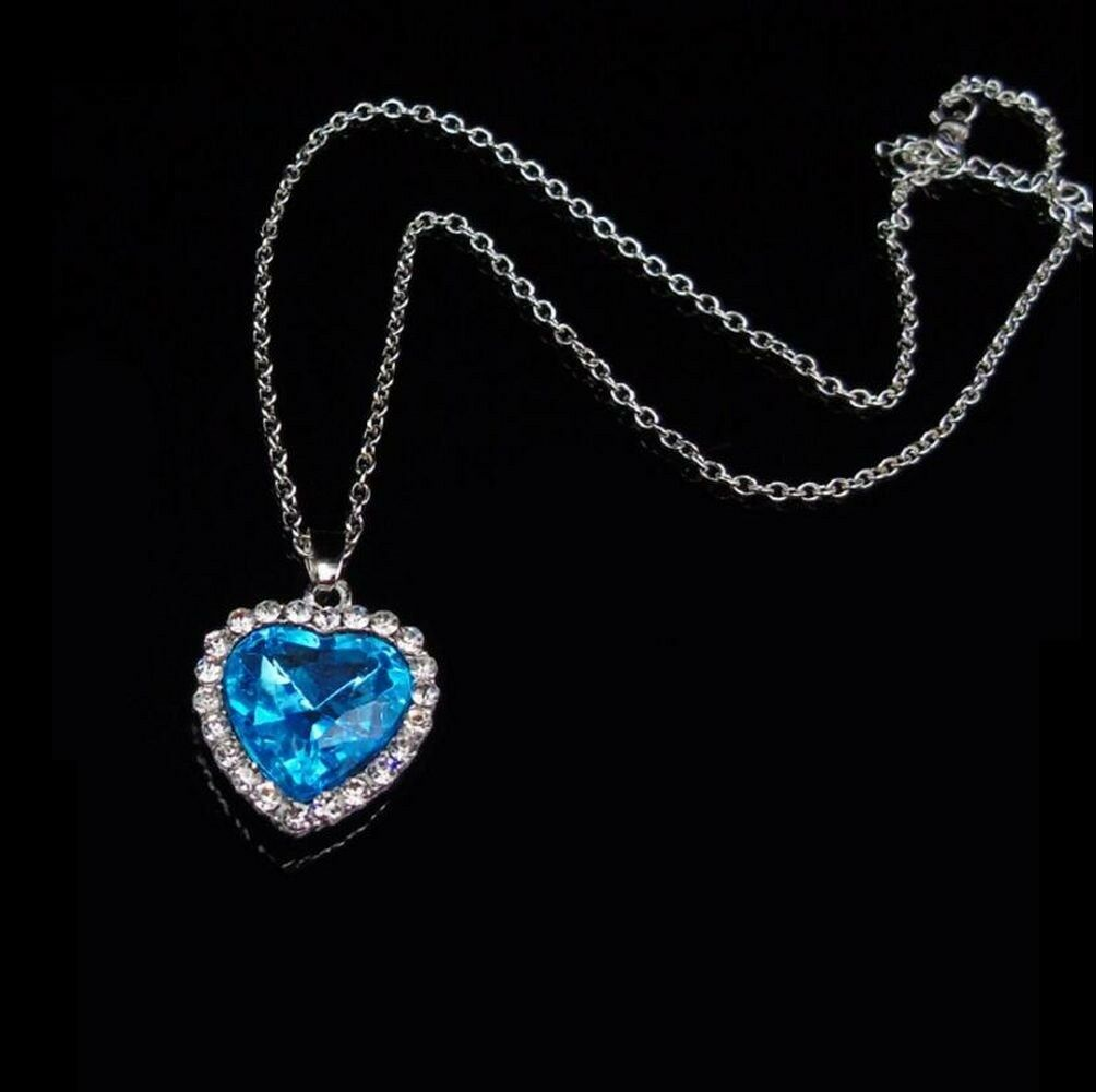 Heart of the Ocean - Titanic Necklace Pendant Replica Cosplay | eBay