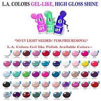 3 Pcs L.a.colors Nail Polish Extreme Shine Gel Nail Polish No Uv Lamp Needed