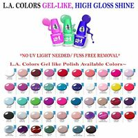 3 Pcs L.a.colors Nail Polish Extreme Shine Gel Nail Polish No Uv Lamp Needed