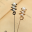 Fashion Men/'s Spiral Pearl Lance Lapel Pin Stick Suit Shirt Boutonniere Brooches