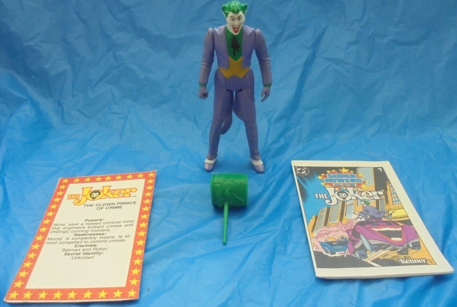 DC Super Powers The Joker Action Figure Complete Mallet File Card Comic 1984 VTG