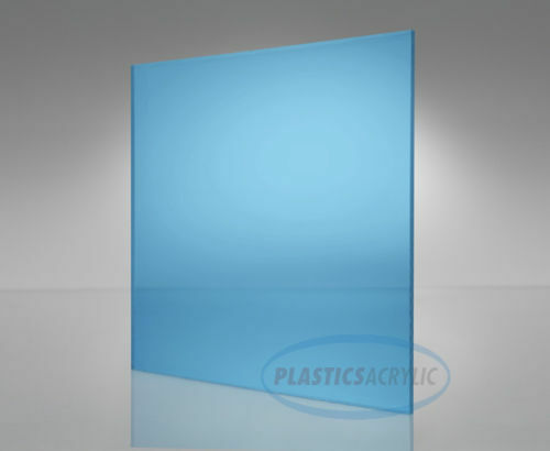 "Light Blue Transparent Acrylic Plexiglass sheet 1//4/"" x 12/"" x 12/"" #2069"