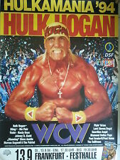 HULK HOGAN 1994  HULKAMANIA         original Tour Poster Plakat 118 X 84 CM